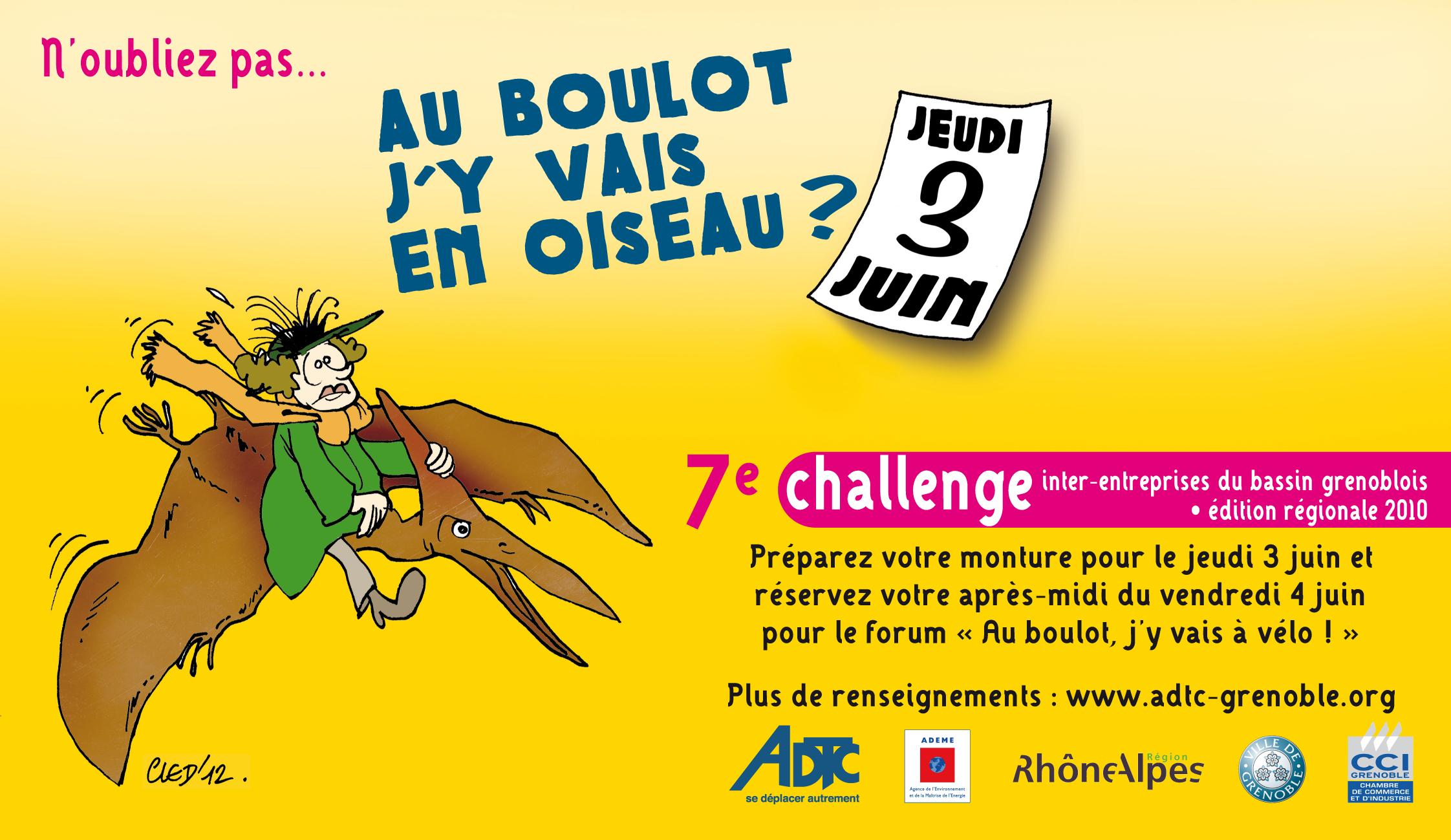 """Challenge """"Au boulot, j'y vais à vélo"""""""