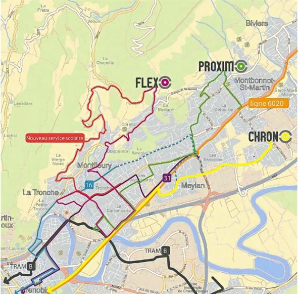 Restructuration du réseau SMTC sur Corenc, La Tronche et Meylan