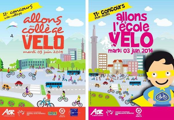 """Concours 2014 """"A l'école et au collège à vélo"""""""