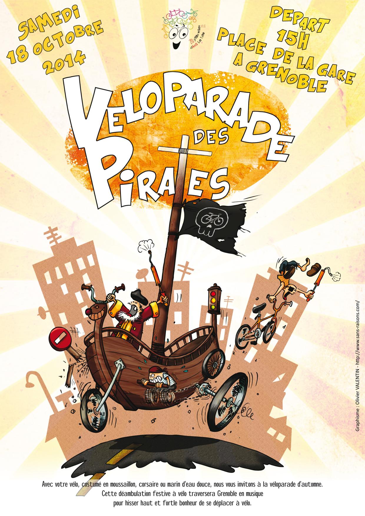 uN p'Tit véLo dAnS La Tête – Véloparade des pirates