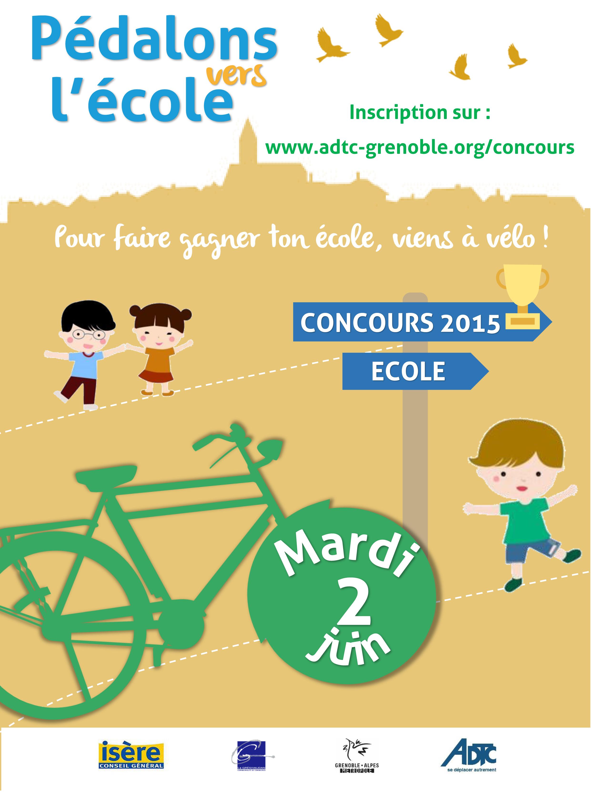 """Concours 2015 """"A l'école et au collège à vélo"""""""