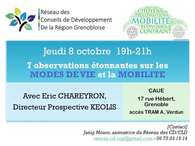 conf débat mobilité et mode de vie 08/10 Grenoble