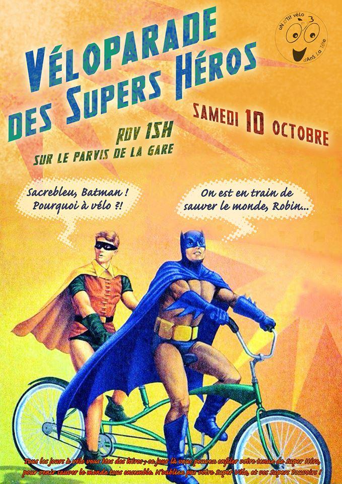 uN p'Tit véLo dAnS La Tête – Véloparade des supers héros