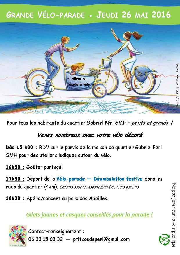 Grande Vélo Parade du quartier Gabriel Péri, St Martin d'Hères