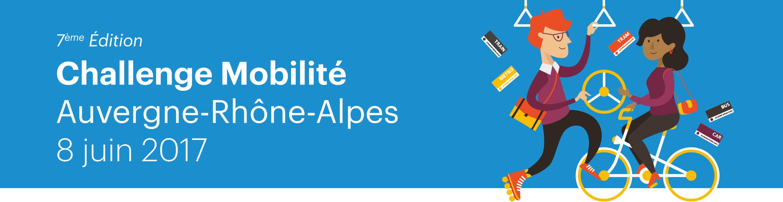 """8 juin 2017, 7e Challenge Mobilité Auvergne Rhône-Alpes !!! Relevez le défi : """"Au travail j'y vais autrement !"""""""