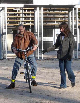 Premières séances de vélo-école.