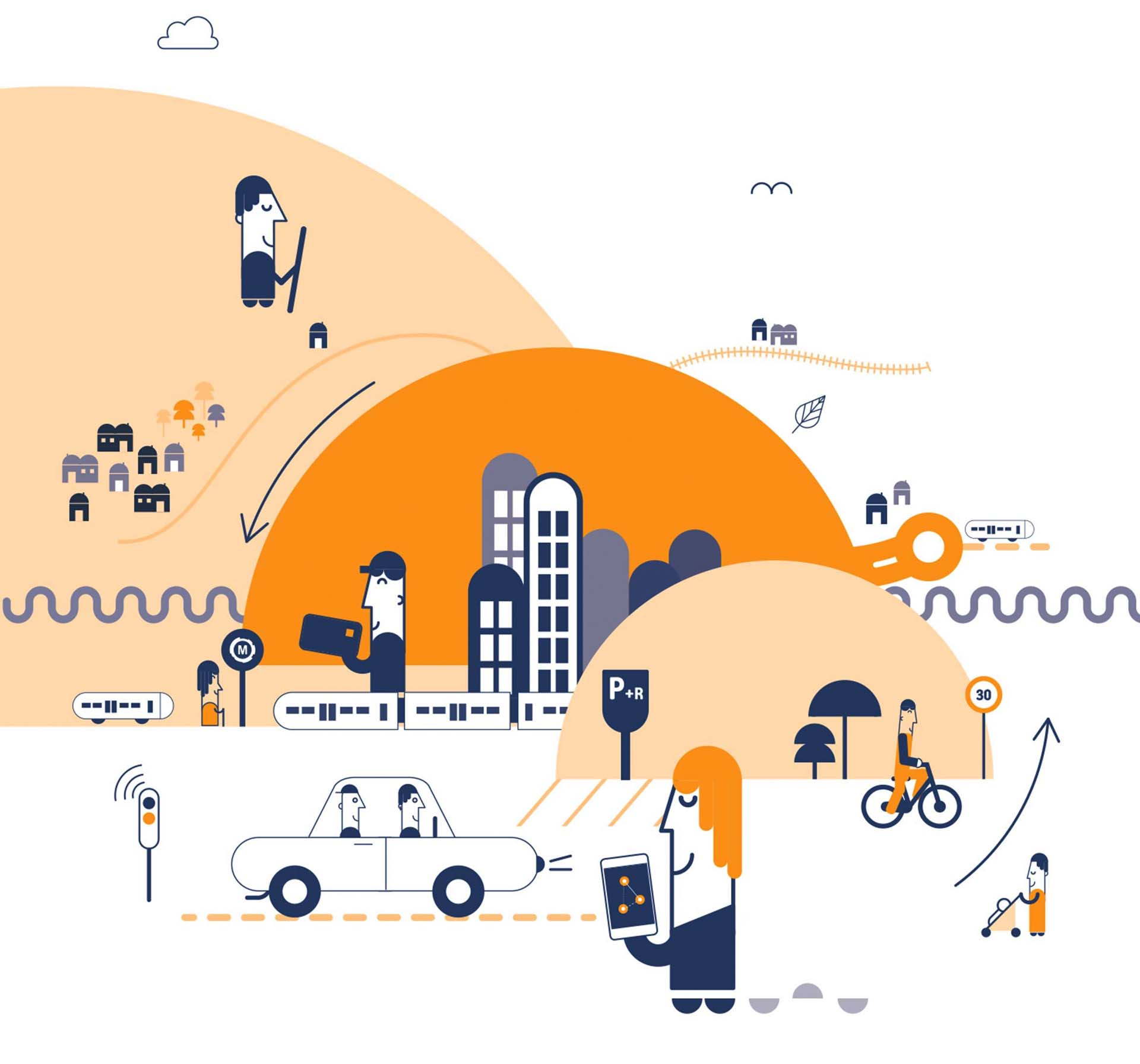 PDU 2030 : l'ADTC insiste sur les actions en faveur des déplacements piétons et vélos qui doivent être renforcées !