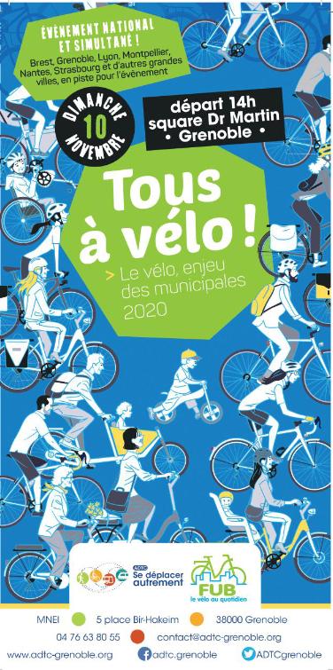 """Véloparade """"Tous à Vélo : le vélo, enjeu des municipales 2020"""""""